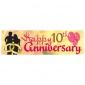 Pre Printed Anniversary Banner