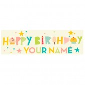 Pre Printed Birthday Banner