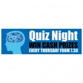 Pre Printed Quiz Night Banner