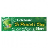 Pre Printed St Patricks Day Banner