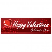 Pre Printed Valentines Day Banner